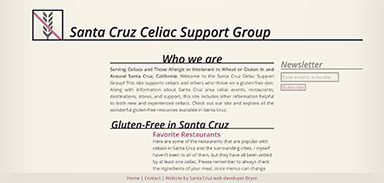 Santa Cruz Celiac Support Group Website